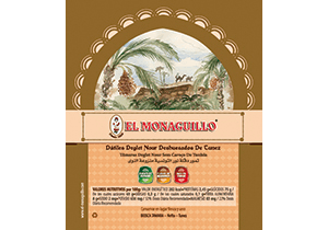 Natural Deglet Nour Pitted Dates El Monaguillo Label